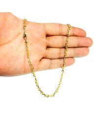 JewelryAffairs - 14k Yellow Gold Cable Link Chain Necklace, 4.0mm, 18 Inch - Lyst