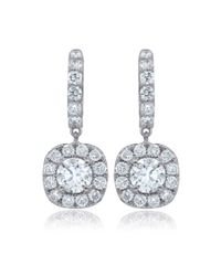 Diana M - 18k White Gold Stud Earrings With 1.50 Carats Of Total Diamond Weight - Lyst