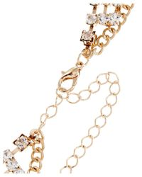 Sparkling Sage - Metallic 14k Plated Crystal Choker Necklace - Lyst