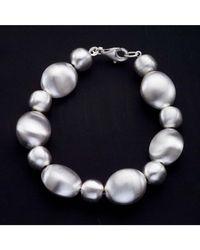 Jewelista - White Sterling Silver Bubbles Bracelet - Lyst