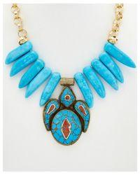 Devon Leigh - Metallic 24k Plated Gemstone Necklace - Lyst