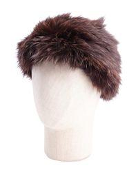 La Fiorentina - Brown Fox Headband - Lyst