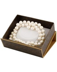 Splendid - 2 Piece White Freshwater Pearl Set With Matching Necklace And Studs - Lyst