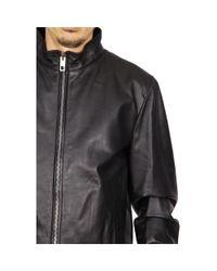 Dolce & Gabbana - Black Mens Leather Jacket for Men - Lyst