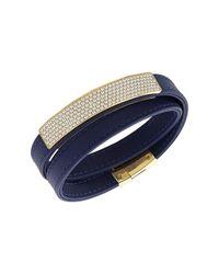 Swarovski - Metallic Crystal Plated Vio Bracelet - Lyst