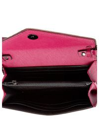Rebecca Minkoff - Pink Cleo Leather Chain Wallet - Lyst