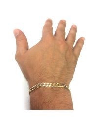 JewelryAffairs - 14k Yellow Solid Gold Comfort Curb Chain Bracelet, 5.7mm, 8.5 for Men - Lyst