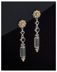 Konstantino - Metallic Asteri 18k & Silver 2.39 Ct. Tw. Diamond & Black Onyx Drop Earrings - Lyst