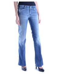 7 For All Mankind - Women's Blue Cotton Jeans - Lyst