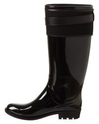 Burberry - Black Belted Equestrian Rain Boot - Lyst