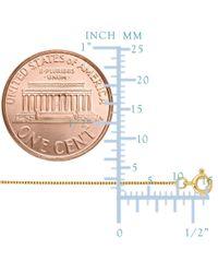 JewelryAffairs - 14k Yellow Gold Classic Mirror Box Chain Necklace, 0.6mm, 16 Inch - Lyst