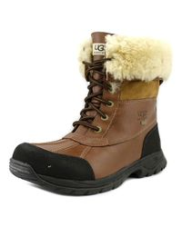 Ugg - Brown Butte Men Round Toe Leather Snow Boot for Men - Lyst