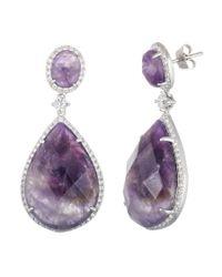 Annabella Lilly - Purple Sterling Silver Earring - Lyst
