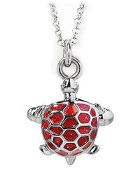 Jan Leslie - Red Turtle Pendant / Charm Necklace - Lyst