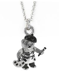 Jan Leslie | Metallic Artistic Bear Pendant / Charm Necklace | Lyst