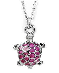 Jan Leslie - Pink Enamel Turtle Pendant / Charm Necklace - Lyst
