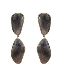Adornia | Blue Sapphire And Champagne Diamond Cindy Earrings | Lyst