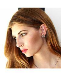 Adornia - Diamond And Yellow Gold Vermeil Barra Bar Stud Earrings - Lyst