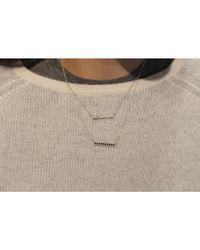 Adornia - Metallic Diamond And Sterling Silver Barra Bar Necklace - Lyst