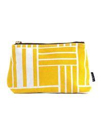 Maika - Yellow Maze Print Zipper Pouch, Large - Lyst