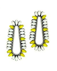 Nicole Romano - Yellow Cliffbar Earrings - Lyst
