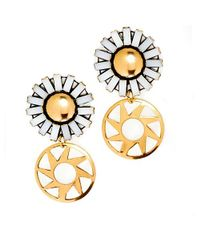 Nicole Romano | Metallic Lee Earrings | Lyst