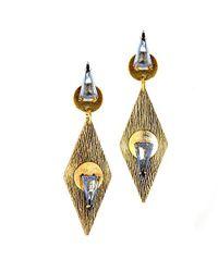 Nicole Romano - Metallic Shen Earrings - Lyst