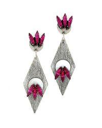 Nicole Romano | Purple Deshi Earrings | Lyst