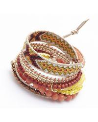Nakamol - Multicolor Sagaciousness Wrap Bracelet-yellow - Lyst