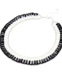 Nakamol | Dual Personality Necklace-black/white | Lyst
