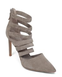 Delman | Gray Bae Stiletto Pumps | Lyst