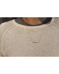 Adornia - Purple Diamond And Yellow Gold Vermeil Barra Bar Necklace - Lyst