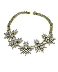 Otazu - Metallic Swarovski Crystal Starburst Necklace - Lyst