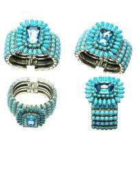 Otazu | Blue Turquoise And Aqua Swarovski Crystal Cuff | Lyst