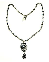 Otazu | Blue Swarovski Crystal Chain Necklace | Lyst