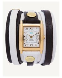 La Mer Collections | White-black Gold Mixed Layer Wrap Watch | Lyst