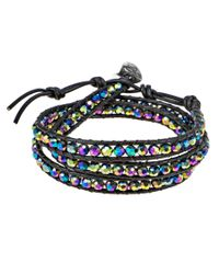 Aeravida | Multicolor Rainbow Muse Fashion Crystal Wrap Leather Bracelet | Lyst