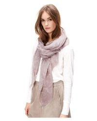 Liebeskind Berlin | Gray Block Print Cotton-silk Scarf | Lyst