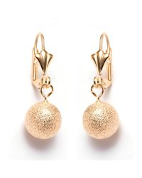 Peermont | Metallic 12mm Gold Ball Drop Earrings | Lyst