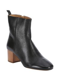 Isabel Marant - Black Leather 'drew' Ankle Boots - Lyst