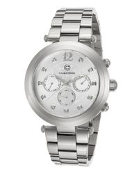 Cabochon - Metallic Papillon Multi-function Stainless Steel Silver-tone Dial Ss - Lyst