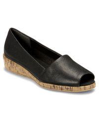 Aerosoles | Black Dubious Moc Toe Synthetic Loafer | Lyst