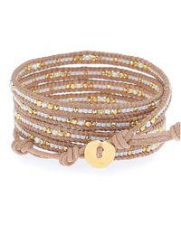 Chan Luu   White Beaded Wrap Bracelet - Natural Mix/Beige   Lyst