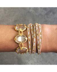 Chan Luu | White Beaded Wrap Bracelet - Natural Mix/Beige | Lyst
