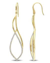 Catherine Malandrino - Metallic 18k Yellow Gold Plated Flame Twist Earrings - Lyst