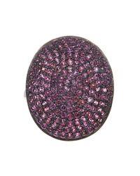 Adornia | Purple Rhodolite Garnet And Sterling Silver Farrah Ii Ring | Lyst