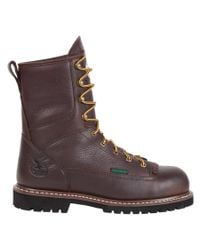 Georgia Boot - Brown Men's 8-inch Lace-to-toe Georgia Lug St Wp Eh Work Boots for Men - Lyst
