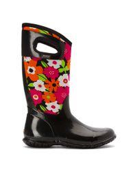 Bogs | Black Women's North Hampton Spring Flowers Rain Boots | Lyst