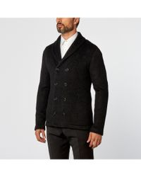 Giorgio Armani - Gray Double Breasted Jacket for Men - Lyst