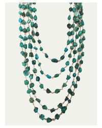 Blue Candy Jewelry | Green African Turquoise Multi Strand Necklace | Lyst